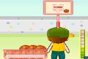 Igre Košarka U Dvorištu Pucanje Na Koš